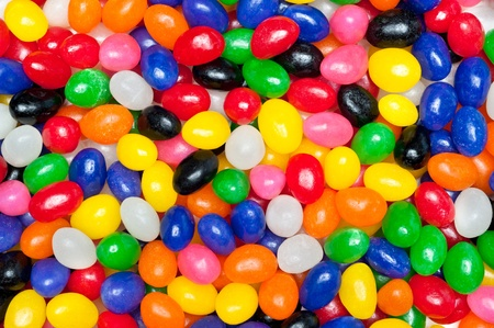 jellybean: A pile of colorful candy Easter jellybeans
