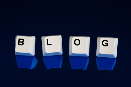 A set of computer keyboard keys spelling out BLOG.  Good for Internet and technology inferences. photo