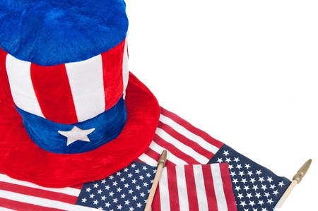 A patriotic theme of American holidays such as July 4th, Memorial Day and Vetern's Day.   Stock Photo - 13411978