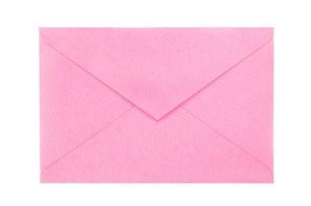 sobres para carta: Un nuevo, sobre en blanco, rosa abierta aislados en blanco para covenience usuario.