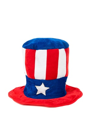 A patriotic fourth of July hat on a white background.  Can be used for Labor Day and Memorial Day as well. Stock Photo - 13411876