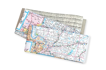Roadmaps for use during vacation, business and general travel guidance. photo