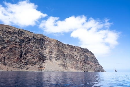 Rugged Guadalupe Island in Mexico where divers go to see great white sharks  Stock Photo - 22849288