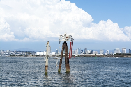 navigational light: Navigational equipment in San Diego harbor is used for controlling speed and providing a light beacon for safe nighttime navigation