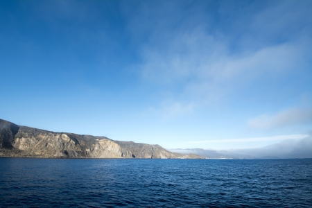 A deep blue sky morning at Catalina Island in California. Stock Photo - 22849353