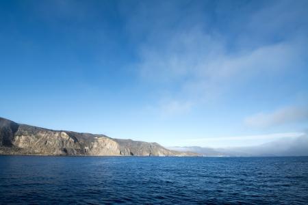 A deep blue sky morning at Catalina Island in California. Stock Photo - 22849353