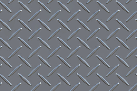 crosshatched: Raster illustration of a metal surface with raised, rectangular crosshatched traction nubs. Stock Photo