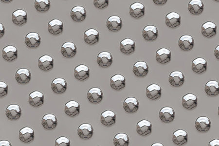 Raster illustration of a metal surface with raised, rivet heads for use as a design element.