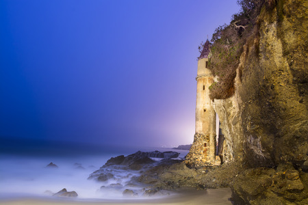 A light painted image of La Tour (the Tower) in Laguna Beach, California, shot at 4:00 a.m. photo