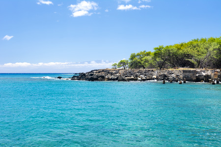 kona: A small swimming bay used by local residents to beat the summer hear in Hawaii