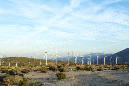 mountaintops: Renewable energy windmills line the mountaintops of Palm Springs