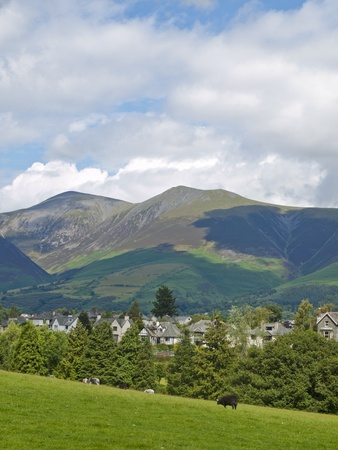 Keswick looking towards Little Man and Skiddaw Stock Photo - 11246298