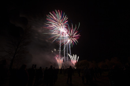 independance: Fireworks at a local event to celebrate Bonfire night