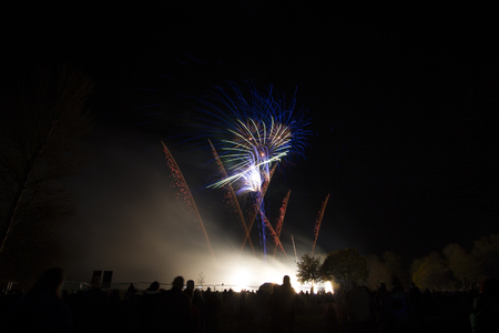 bonfire night: Fireworks at a local event to celebrate Bonfire night