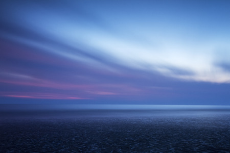 calming: A beautiful and dramatic abstract blue seascape filled with calming colours