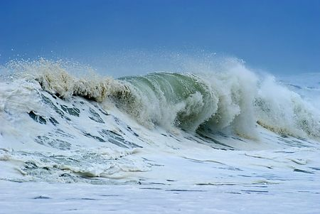 Waves in a big stormy ocean photo