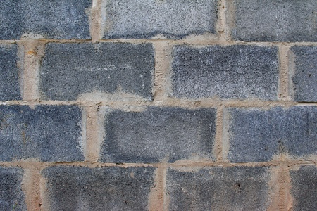 Closeup detail of a grey block wall  photo
