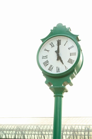 Street Clock on white background. photo