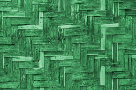 The old green bamboo wicker wall texture Stock Photo - 13407961