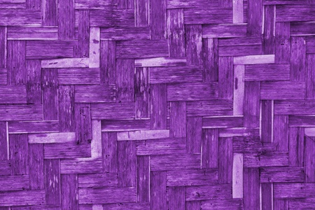 The old purple bamboo wicker wall texture Stock fotó