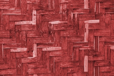 The old red bamboo wicker wall texture photo