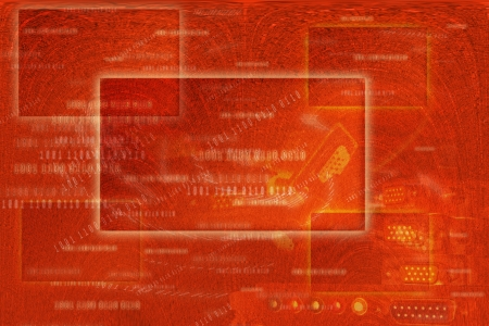 Red Abstract Frame Background , Square frame buttons on screen concept   photo