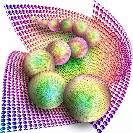 computergraphics: Illustration  of twelve colorful balls.