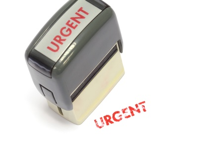 Urgent Stamp ,Modern self-ink rubber stamp with red  Stock Photo - 15179108