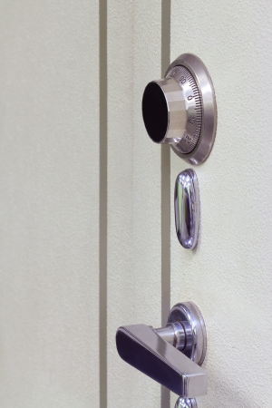 Safe door combination lock wheel   photo