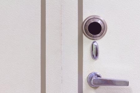 Safe door combination lock wheel   photo