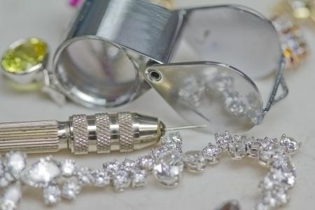 Repairing jewelry tools and bracelet with diamond Standard-Bild
