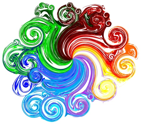 Abstract of various color with swirl shapes Stock Photo - 16137946