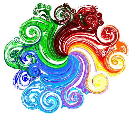 Abstract of various color with swirl shapes  include Clipping paths ,Vector
