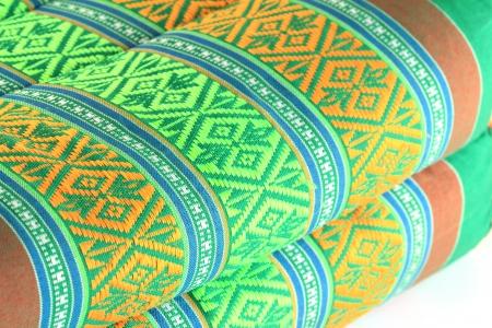 Close up of texture Thai pillow ,Thai pattern art style. Stock fotó
