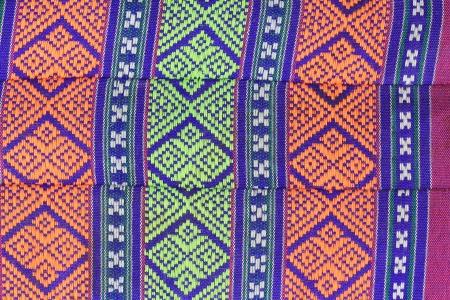 Close up of texture Thai pillow ,Thai pattern art style. Standard-Bild