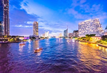 silom: Light of Taksin Bridg Stock Photo