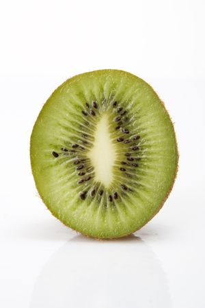 Isolated Kiwi fruit on white background.