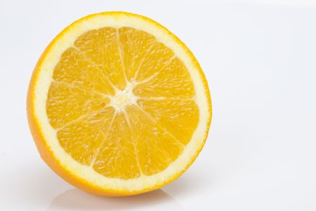 Half of a lemon isolated on a white background.