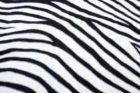 Close up of zeebra striped fabric.