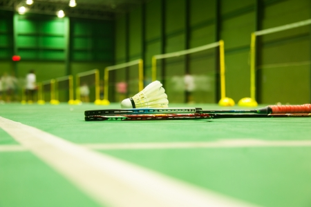 Badminton. Competitive sports.Competition.