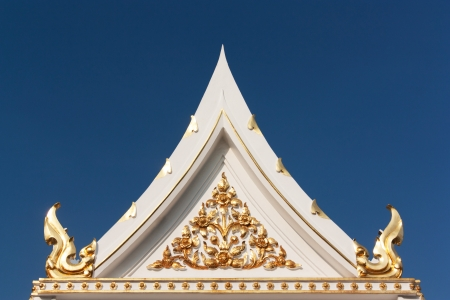Thailand stripes on the roof of the temple. Stock Photo