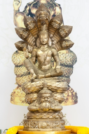 Buddha with snake and Rahu. Stock Photo - 18090996