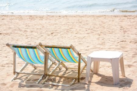 Thailand beach bed  Stock Photo