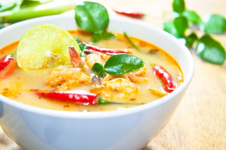 food photography: Thai cuisine,Tom Yam Kung.