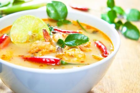 Thai-Küche, Tom Yam Kung. Lizenzfreie Bilder
