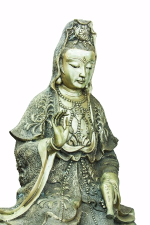 Guanyin white background  Stock Photo - 19529795