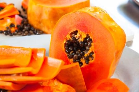 Sweet papaya  Stock Photo