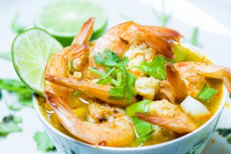 Thailand food  shrimp soup