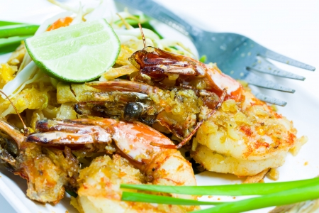 Thailand Food fried noodles with shrimp  Pad Thai Stock Photo - 24060046