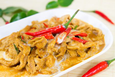 Thailand Restaurant, Curry pork, coconut milk  photo